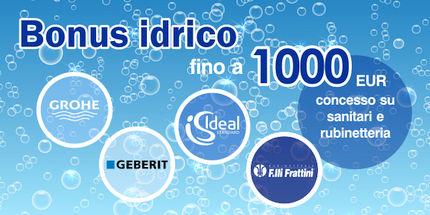 Bonus idrico fino a 1000 Euro su rubinetti e sanitari bagno