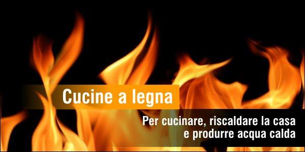 Offerta cucine a legna e termocucine Vescovi e Lincar per cucinare, scaldare la casa e produrre acqua calda