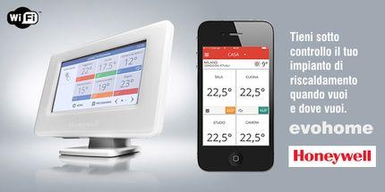 Honeywell Evohome, controllo remoto Wi-Fi del comfort domestico tramite smartphone o tablet