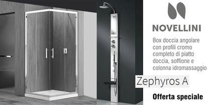 Offerta box doccia Novellini Zephyros A con colonna idromassaggio