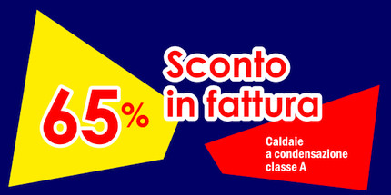 Sconto in fattura del 65% Ecobonus sulle caldaie a condensazione Beretta, Baxi, Immergas e Vaillant in classe A