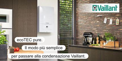 Caldaia a condensazione Vaillant ecoTEC pure VMW 246/7-2 in offerta ad un prezzo speciale presso la Termoidraulica Nigrelli di Roma-Guidonia